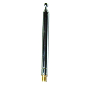 "Super Antenna TW1 Telescopic Whip 3/8""-24 male fitting 44"" long"