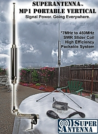 SUPERANTENNA - MP1 - PORTABLE VERTICAL - Signal Power. Going Everywhere.